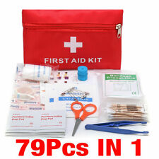 79Pcs Outdoor Survival Medical Tactical First Aid Bag Emergency Responder Kit