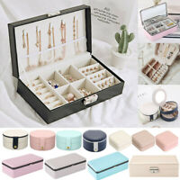 Many Portable Jewelry Storage Box Jewelry Necklace Ring Organizer Ornaments Case