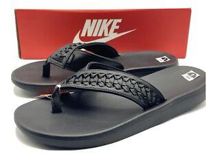 Nike Kepa Kai Thong 2 Lea Lifestyle Mens Black Sandals BV9224 001 - SIZE 8 New!