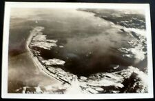 1940s+ RPPC Aerial View, Ediz Hook, 3-Mile Long Sand Split, Port Angeles, WA