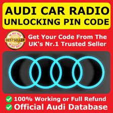 AUDI Radio Code Unlock Service A3 A4 TT SYMPHONY RNS-E CONCERT FAST | ALL MODELS