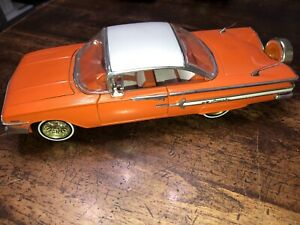 1960 Chevrolet Impala Lowrider Car 1:24 Street Low Jada Toys Rare Orange W10