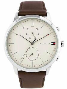 NEW Tommy Hilfiger Men's Analogue Quartz Watch Leather Strap 1710404