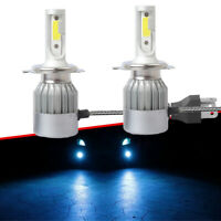 2Pcs H4 9003 LED Ice Blue Headlight Bulbs 8000LM Kit High&Low Beam Upgrade 8000K