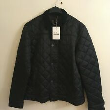 BARBOUR QUILTED MENS BLACK JACKET/COAT SIZE LARGE BNWT
