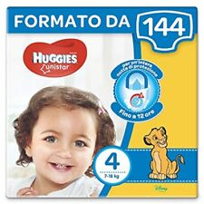 Huggies Unistar 144 Diapers Size 4 (7-39.7lbs) 8 Packs of 18 Pz. Cad. Unisex