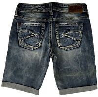SILVER JEANS Sale New Buckle Mid Rise Thick Stitch Lola Denim Jean Shorts 28, 32