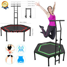 """48"""" Foldable Trampoline Safety Pad Rebounder with Foam Handle for Adults Kids"""