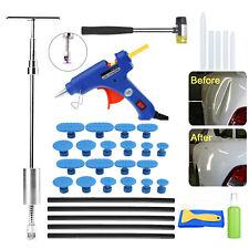 Car Auto Paintless Dent Removal Repair Kit Slide Hammer T-Bar Glue Gun Tab