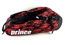 Prince 2016 Team 6 Pack Tennis Bag Racket Black Red EUC