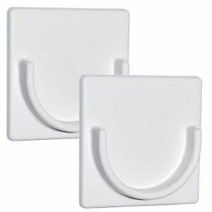 Adherion Shower Curtain Rod Holder | Retainer | No Drilling Stick On 3M Adhesive