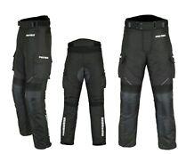Motorradhose wasserdichte Textilhose SCHWARZ Protektoren/Taschen Gr. XS - 6XL