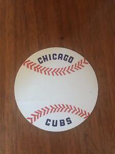 Vintage Chicago Cubs MLB Baseball Unused Decal Sticker 1970s