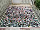 Vintage Moroccan Handmade Azilal Rug Beni Ourain Cotton Carpet Berber Tribal Rug