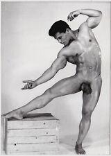 Rare Vintage Photo Stamped, Ferrero, France, Male Nude Rick Wayne, c. 1962 Gay