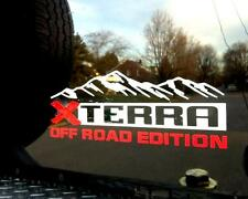 X TERRA off road edition both side and tailgate mountains Decals Stickers Vinyl