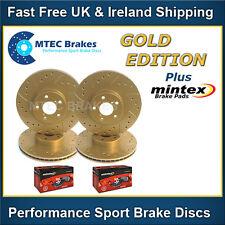 Saxo VTR VTS MTEC Gold Edition Drilled Brake Discs & Mintex Pads Front Rear