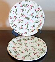 Home Green Vines & Berries Salad Plates Scalloped x2