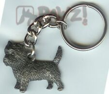 Cairn Terrier Dog Fine Pewter Keychain Key Chain Ring Fob