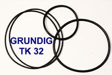 SET RIEMEN GRUNDIG TK32 TONBANDMASCHINE EXTRA STRONG FABRICKFRISCH NEU TK-32