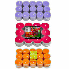 LARGE PACKS OF SCENTED TEA LIGHTS 3 DIFFERENT SCENTS  BRAND NEW