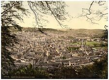 Bath From Beechen Cliff Vintage photochrome print ca. 1890