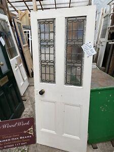 RECLAIMED Victorian - VESTIBULE  DOOR - Ornate Glass Leaded Glass