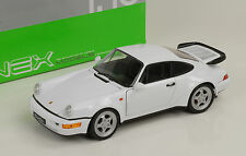 1990 PORSCHE 911 964 turbo bianco white 1:18 Welly