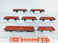 BZ716-0,5# 7x Märklin H0/AC Niederbordwagen/ Güterwagen 4503+4514 DB, gut