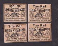 Ancienne étiquette de paquet allumettes Suède BN27043 Le rat