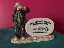 Emmett Kelly Jr Collectors Society Members Only Display Figurine Flambro