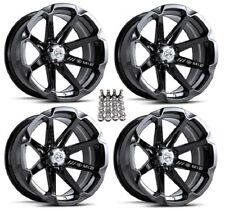 "MSA M12 Diesel ATV Wheels/Rims Black 14"" Can-Am Renegade Outlander (4)"