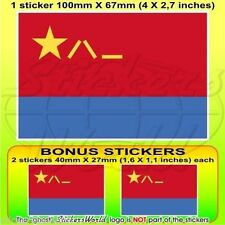 CHINE AirForce PLAAF Drapeau Chinois 100mm Autocollant x1+2 BONUS Stickers