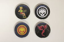 RARE SET OF (4) LARGE «THE OFFSPRING» PIN BACK BUTTONS 2¼""