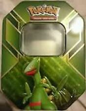 Pokemon Cards Lot Sceptile EMPTY TIN - Storage Container Metal FREE SHIPPING EX