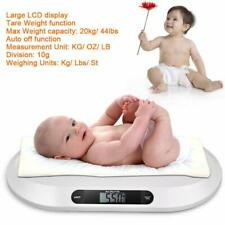 44 Lbs Digital Baby Scale White Portable Infant Scale Pet Dog Cat Scale Comfort