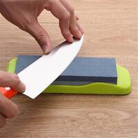 Dual Grit Knife Sharpening Whetstone Sharpener Water Wet Oil Blade Stone Tool