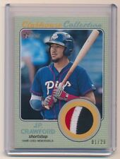 J.P. CRAWFORD 2017 TOPPS HERITAGE MINORS CLUBHOUSE COLLECTION PATCH GRAY 01/20