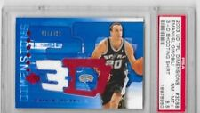 2003-04 Upper Deck Triple Dimensions 3-D Shooting Shirts Spurs  #S8 Ginobili PSA
