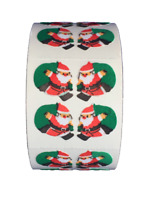 "400 Santa Claus Stickers in roll of 100 modules (2""x2"") Each Sticker 1"" RF8003"