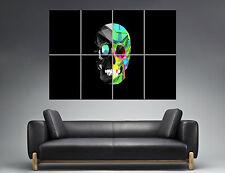 Skull Abstract Tete de mort abstrait Wall Art  Poster Grand format A0