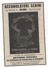Pubblicità vintage BATTERIA AUTO SCAINI MILANO advert reklame werbung publicitè