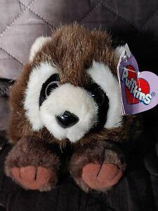 Swibco Puffkins Bandit Raccoon Stuffed Plush 1997