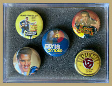 ELVIS PRESLEY Icons & Iconic Images Set of 5 (Five) 1.0 inch Round Magnets