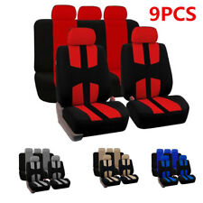 9pcs Red and black Car Full Styling Seat Cover For Car Truck Suv four seasons