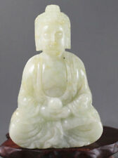 Chinese jade hand-carved the statue of buddha,delicate statue