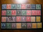 32+US+STAMPS+WASHINGTON+FRANKLIN+SOME+MNH+SOME+MH+OR+WITH+HINGE+REMINANTS