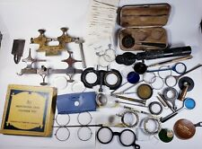 Lot of antique & vintage optometrist's testing instruments. Optometry/steampunk.