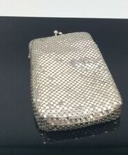 Whiting And Davis Vintage Coin Cigarette Eyeglass Purse Silver Mesh