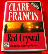 Clare Francis Red Crystal 12-Tape UNABR.Audio Bk Steven Pacey Terrorism Thriller